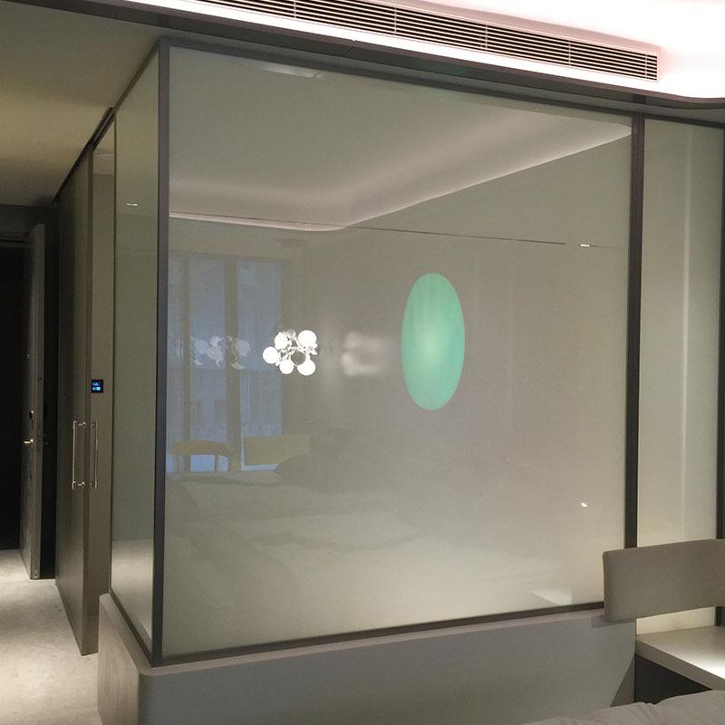 广东厂家定制 隔断电子雾化 调光玻璃 家装建材建筑深加工玻璃
