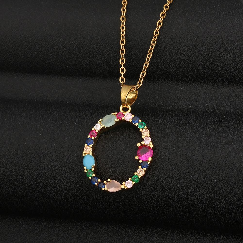 new fashion color zircon necklace  NHBU321399