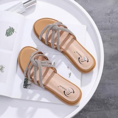 货源2020年夏季新款凉拖鞋外穿沙滩鞋时尚百搭网红仙女风平底女士凉鞋批发