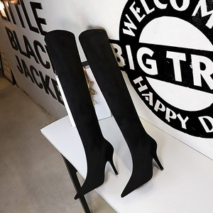 9822-2 in Europe and the contracted wind winter boots show thin glass with suede sexy high-heeled tines knee-high boots
