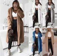 2020秋冬新款欧美跨境毛呢大衣亚马逊ebaywish羊羔绒呢子外套女
