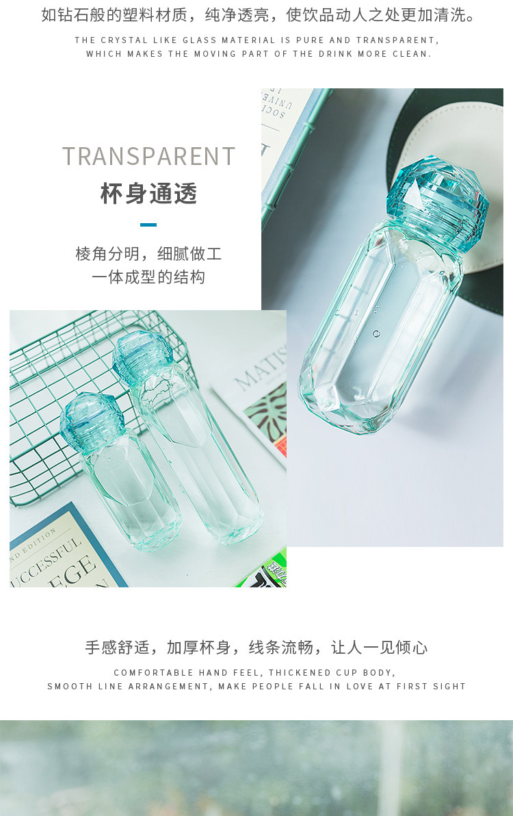 Hot selling fashion plastic water cup water bottle NHtn259581