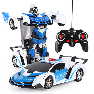 1023 charging toy 1:18 one-button deformation remote control deformation car robot model car remote control toy