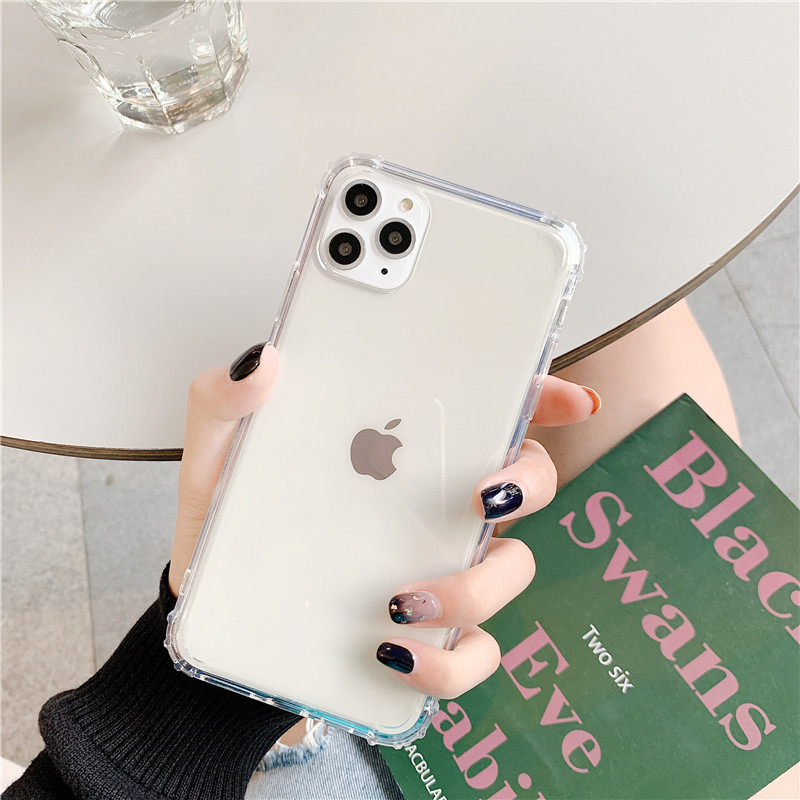 Anti-drop airbag transparent soft shell Apple 11Promax mobile phone case for iphone XS XR 8plus SE2 NHFI272913