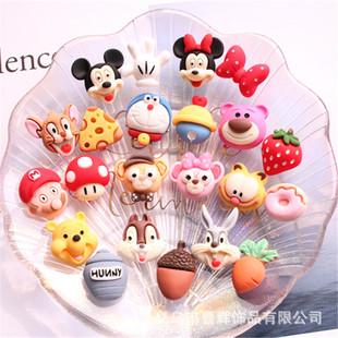 Cute butt combination cartoon jewelry accessories diy children's hair accessories storage box mobile phone shell patch handmade materials