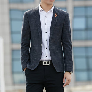New men's Korean casual small suits men's casual spring and autumn suits hot style single western youth jacket men's trend