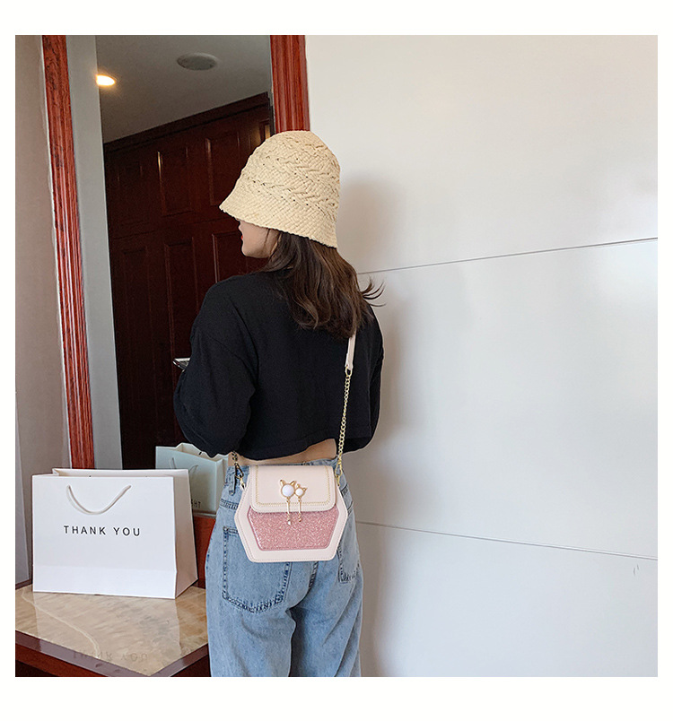ladies small bag new wave wild chain crossbody bag summer fashion small square bag wholesale nihaojewelry NHTC225185