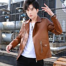 男士皮衣2020新款韓版潮帥氣春秋季薄款修身外套男PU機車服皮夾克