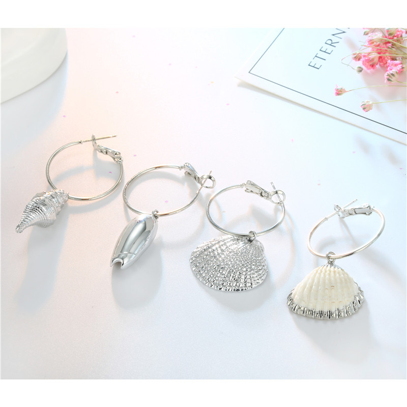 New fashion natural shell earrings silver shell earrings earrings wholesale NHGO204388