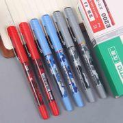 直液式走珠笔办公中性笔黑红蓝直液笔0.5mm子弹头水笔学生 碳素笔