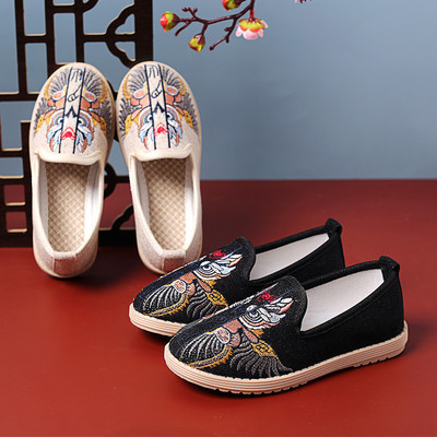 Beijing boys shoes children Chinese folk dance hanfu embroidered shoes national Hanfu Clothing handmade shoes ancient performance shoes
