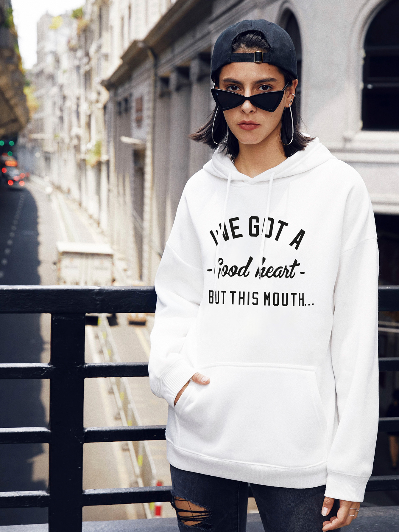 popular autumn and winter women's casual letter hooded sweater NSSN2266