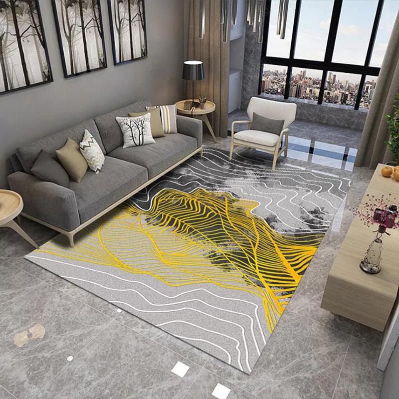 厂家新款北欧简约卧室家用印花客厅地毯 批发现代几何沙发茶几毯