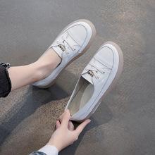 2020春季新款小白鞋大码牛筋软底女鞋真皮复古单鞋女防滑孕妇鞋子