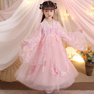 Children Chinese Hanfu fairy dress