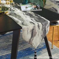 Бегунок стола Американский свет роскошная модель комнаты новый китайский современный минималистский чайный столик чайное полотенце обеденный стол скатерть чайный столик длинная скатерть