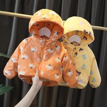 宝宝棉服小女童冬装加绒外套儿童棉袄婴儿童加厚男童棉衣一件代发
