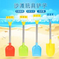 Игрушки для игр на открытом воздухе, снежные пляжные игрушки для детей, 2 комплекта лопаты из нержавеющей стали, инструмент для игр с песком для родителей и детей