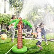 现货充气pvc喷水椰树 草坪儿童喷水垫玩具户外草地喷水椰树玩具