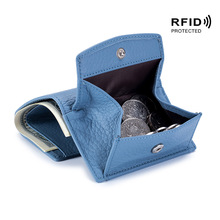 小钱包女真皮日式財布  rfid硬币袋钱夹外贸迷你短款purse女钱包