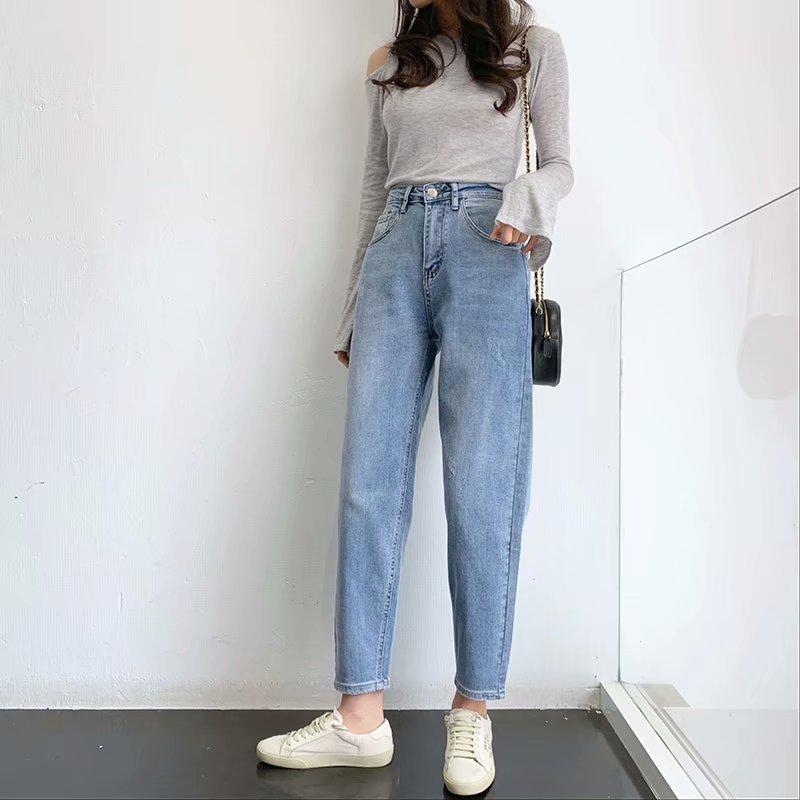 fashion new simple  soft and comfortable high waist elastic radish pants female jeans nihaojewelry wholesale NHAM215603