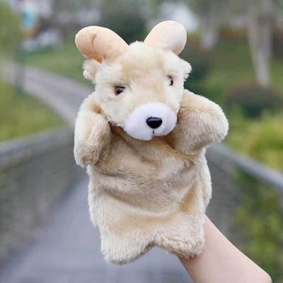 热卖毛绒玩具创意手偶羚羊小动物造型儿童早教手指玩偶老师讲故事