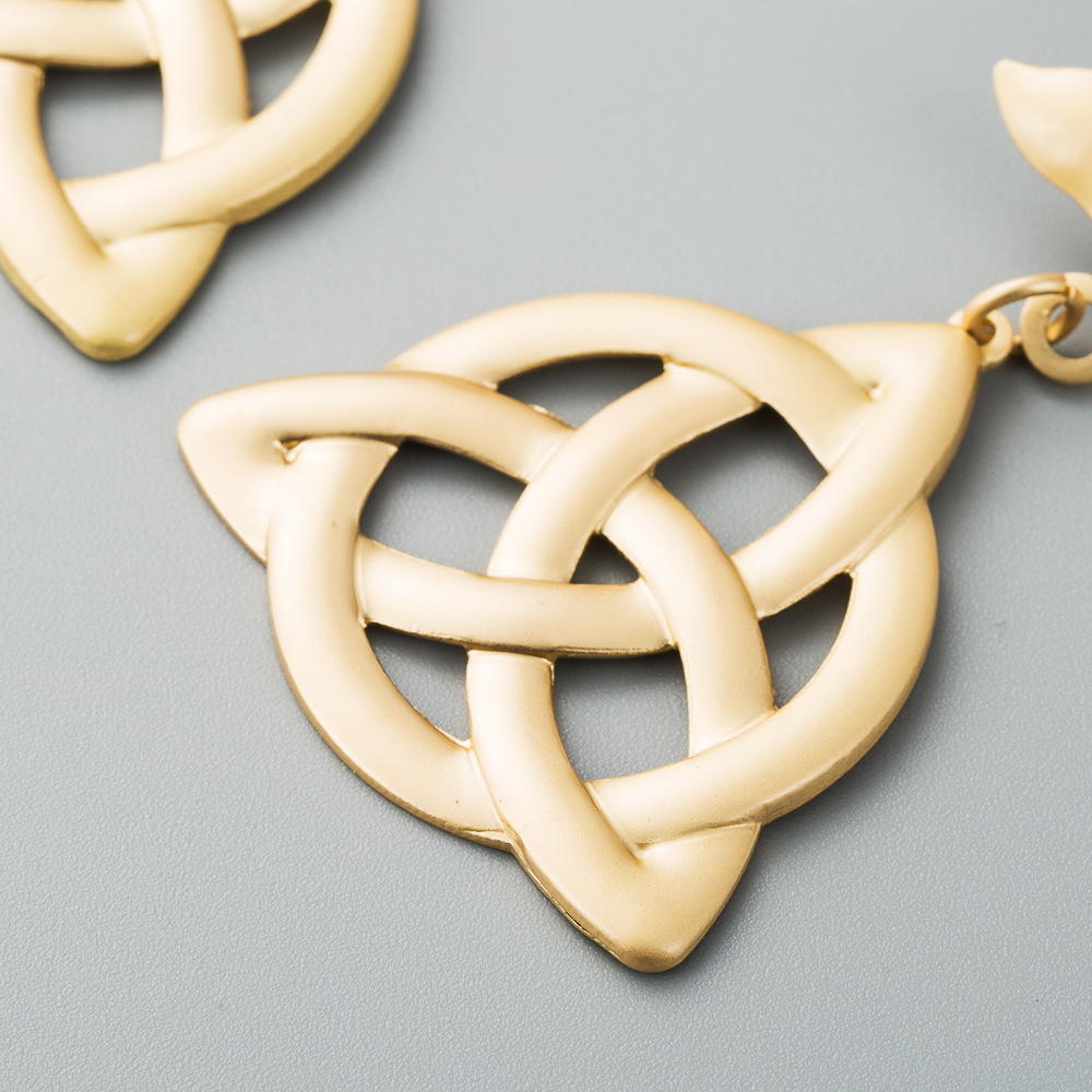 Women's earrings hollow Yakin viking rune concentric knot earrings women NHLN199020