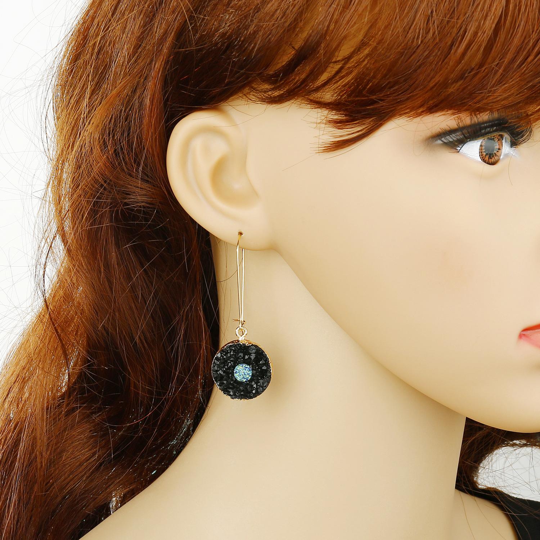 Fashion Jewelry Sun Flower Resin Earrings Imitation Natural Stone Earrings Love Eye Earrings wholesales  NHGO201046
