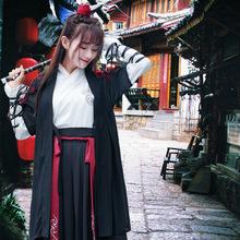 汉服女学生日常改良古装齐腰襦裙汉元素古装长款成人汉元素男侠客