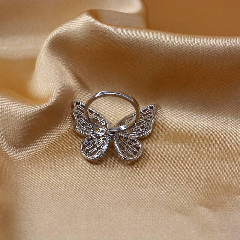 New fashion zircon butterfly forefinger tide fashion retro ring wholesale NHNT206029
