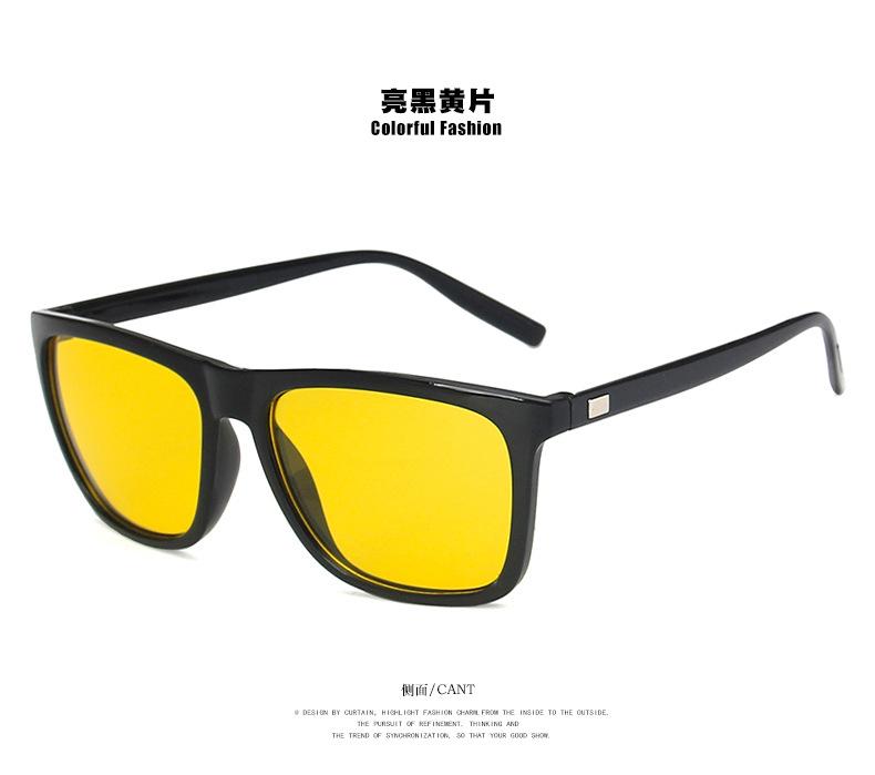 Sunglasses men's driving mirror new square wild trend sunglasses driver sunglasses NHKD202123