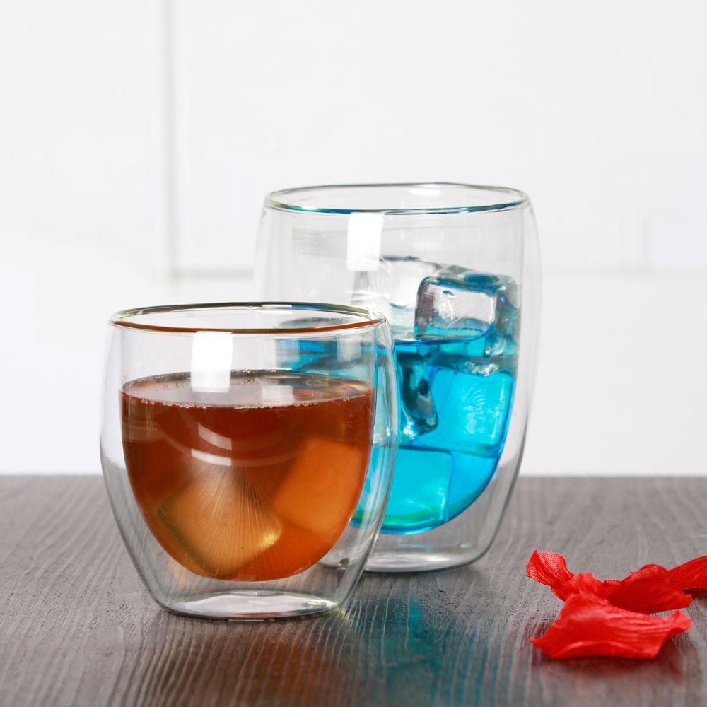 厂家现货热卖双层防烫手耐高温玻璃杯咖啡杯家用办公室随手杯