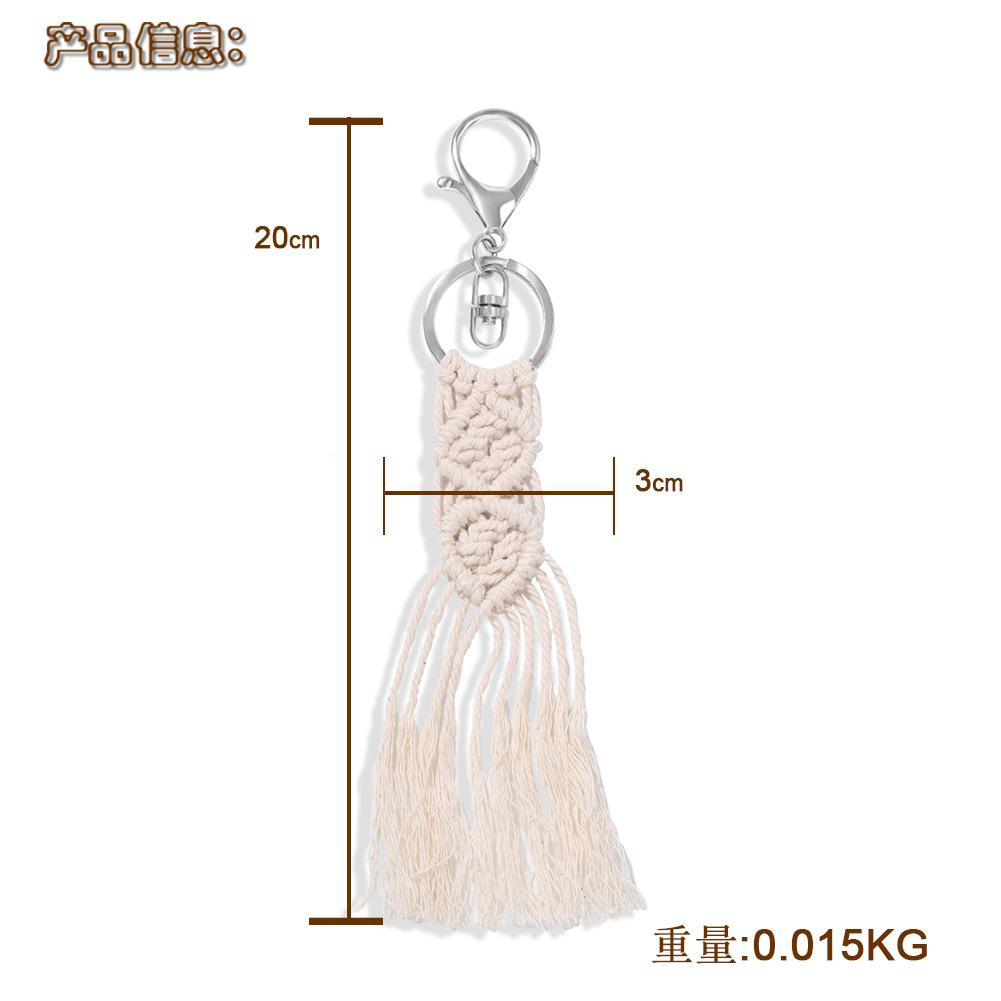 Chinese style new creative white hand-woven fishtail tassel pendant keychain wholesale nihaojewelry NHJQ236016
