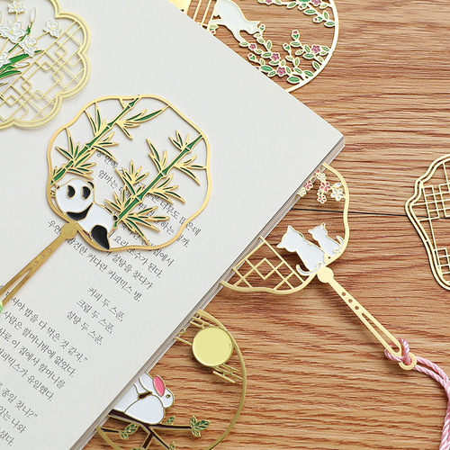 2pcs Exquisite hollow out creative brass leaf vein metal bookmark cultural and creative souvenir classic gift