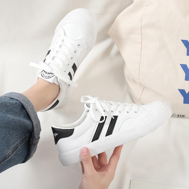 小白女鞋子2020秋款百搭ins街拍帆布潮鞋新款板鞋秋冬单鞋帆布鞋