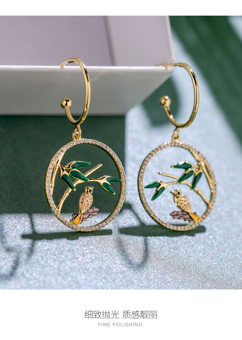 925 Silver Needle New Earrings Hollow Out Chinese Style Antique Earrings NHPP201926