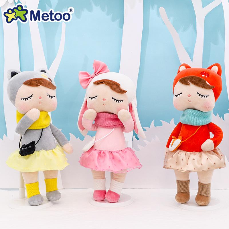 metoo咪兔林中安吉拉娃娃公仔系列玩偶儿童生日礼物毛绒玩具代发