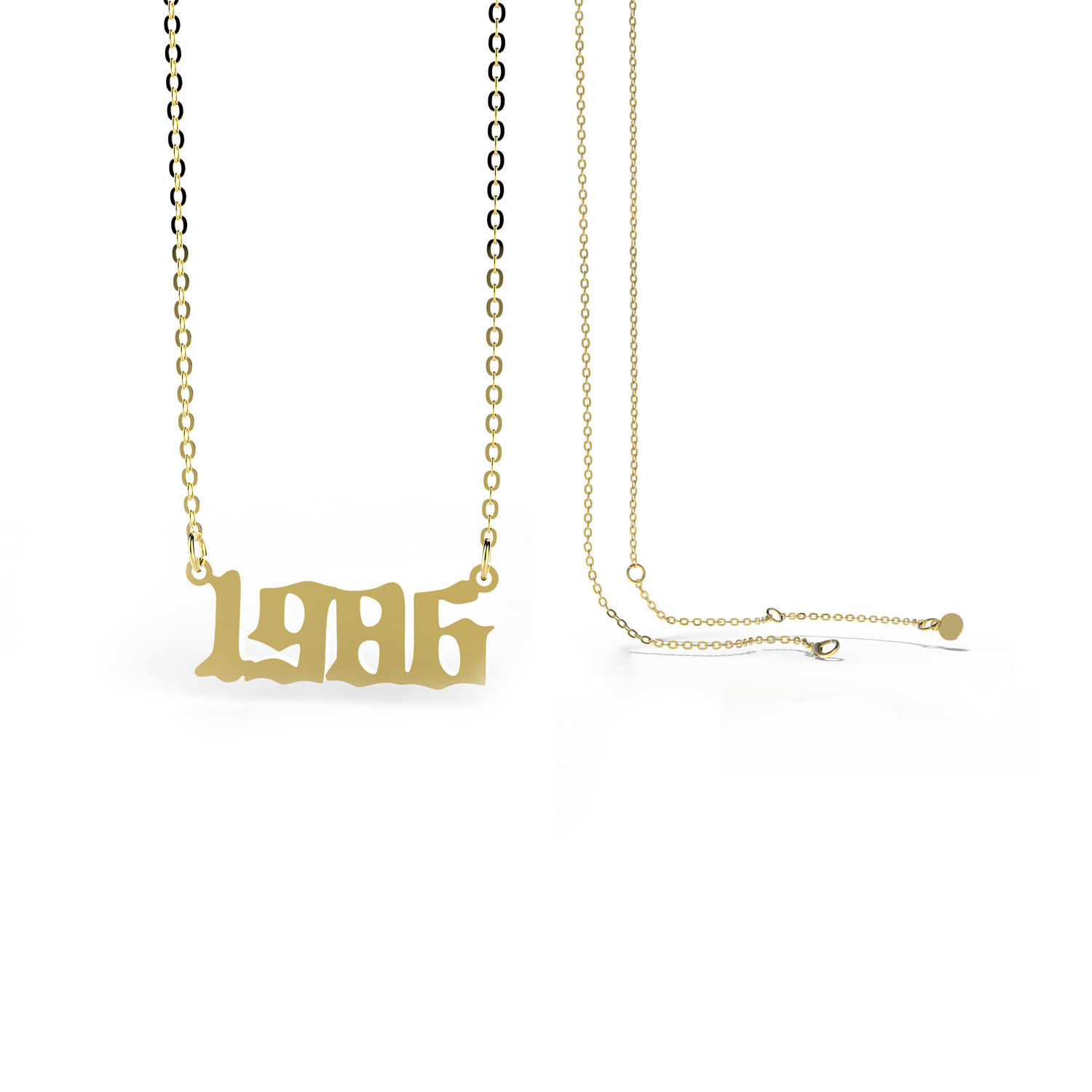 Stainless Steel 28 Years  Number Pendant womens Necklace NHJJ251060