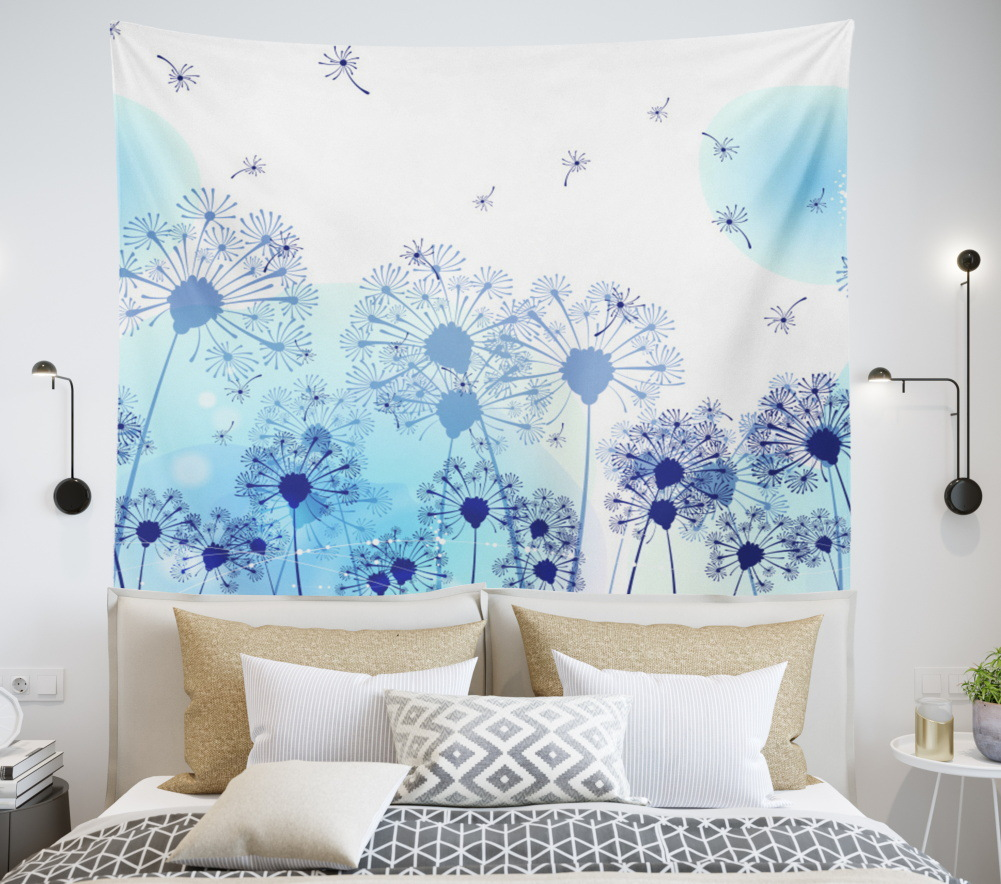 ins Nordic style bedroom decoration tapestry to map custom digital printing net red anchor live background cloth hanging cloth