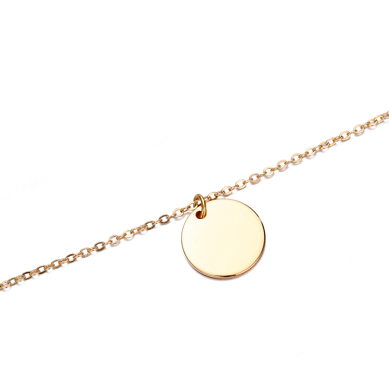 accessories necklace geometric suit necklace L316 stainless steel two-piece necklace clavicle chain wholesale nihaojewelry NHJJ221057