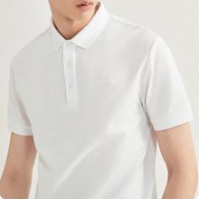 品質200g納米純棉夏季新款白色POLO衫男女短袖保羅衫翻領上衣40支