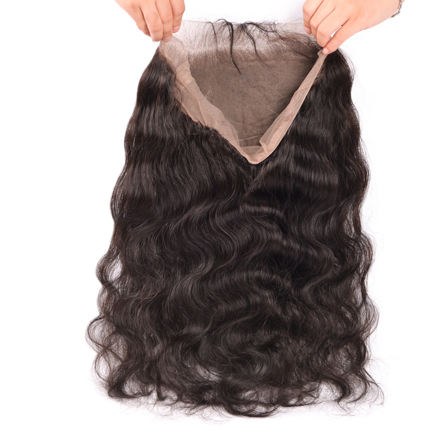 360 lace frontal body wave Human hair 36...