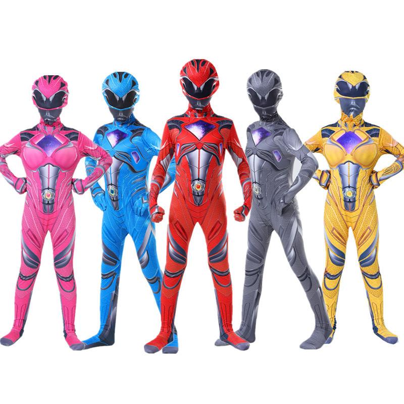 万圣节儿童服装 超凡战队cosplay衣服二次元动漫连体紧身衣