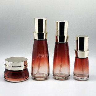 Facial mask bottle, essence bottle, cosmetic glass bottle, high-end cosmetic packaging material in stock, 50g cream bottle