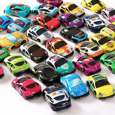回力小汽车迷你儿童玩具宝宝创意个性男孩塑料惯性汽车地摊小礼物