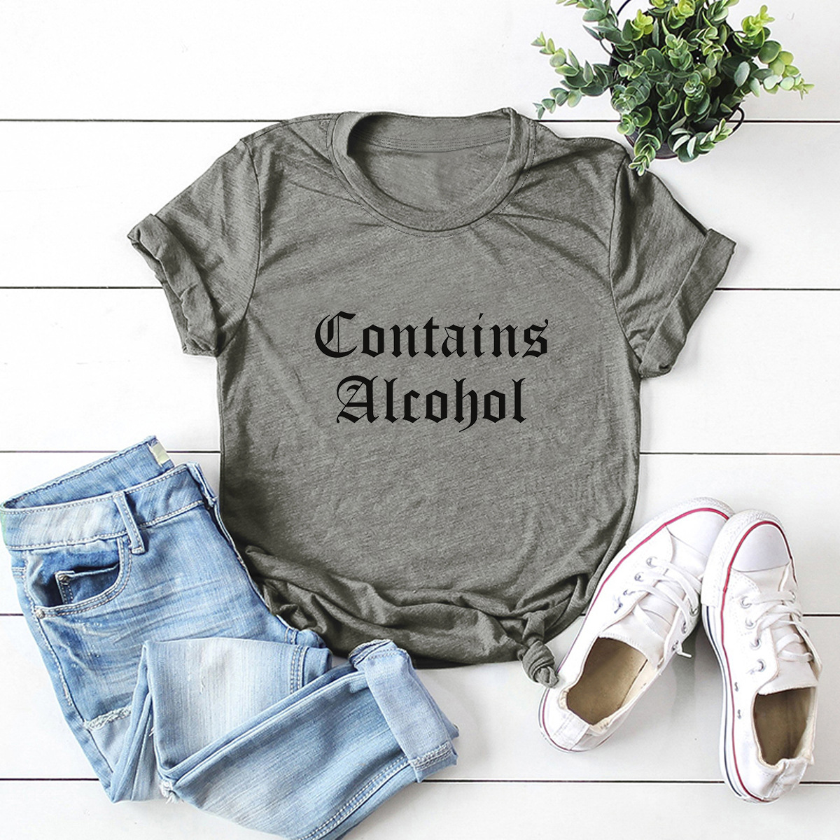 hot models Slim Comfortable Casual Large Size Short Sleeve Women's T-shirt NSSN1476