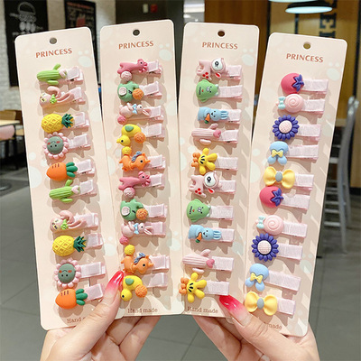 20pcs Children's hair accessories baby hairpin little girl barrette Duckbill clip Cute hairpin girl with baby bangs clip