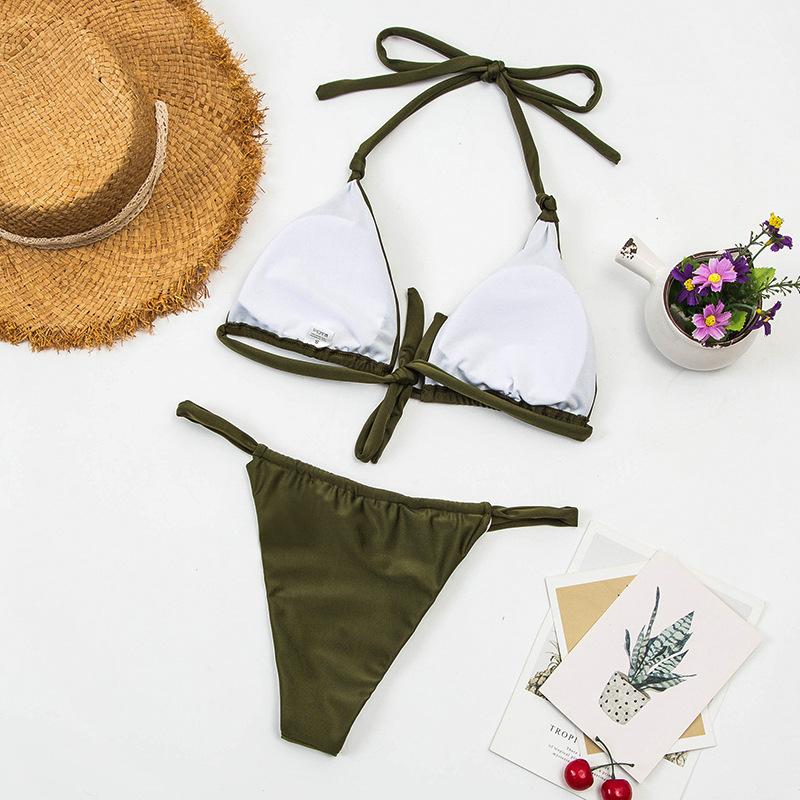 sexy gradient color split bikini  NSHL25121