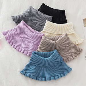 Fake collar Detachable Blouse Dickey Collar False Collar Sun proof elastic collar false collar cervical scar cover for women high neck knitted neck cover