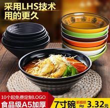 面碗商用面馆专用塑料密胺仿瓷餐具日式牛肉拉面汤碗麻辣烫碗大